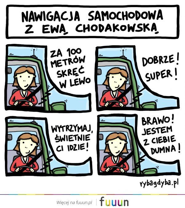 Nawigacja samochodowa z Ewą Chodakowską